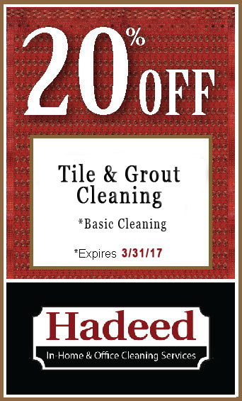 Tile Grout Cleaning special